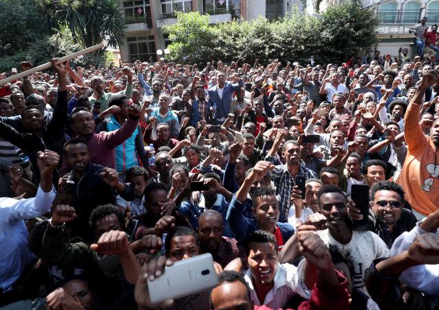 Protestas en Adís Abeba, Etiopía