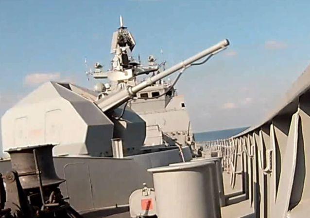 La flota de Rusia muestra su fuerza en el mar Mediterráneo