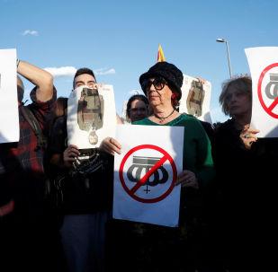 Protestas en Barcelona por la visita del rey Felipe VI