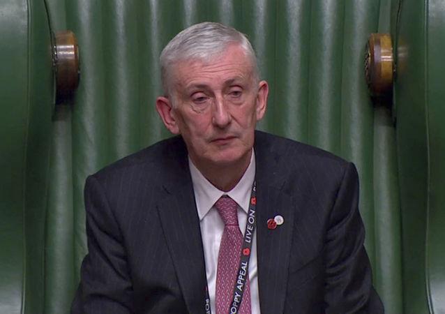 Sir Lindsay Hoyle, presidente electo de la Cámara Baja del Parlamento británico