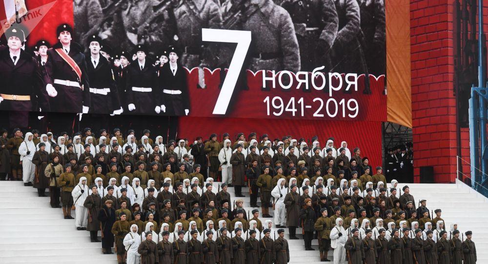 Preparativos para el 78° aniversario del desfile militar del 7 de noviembre de 1941