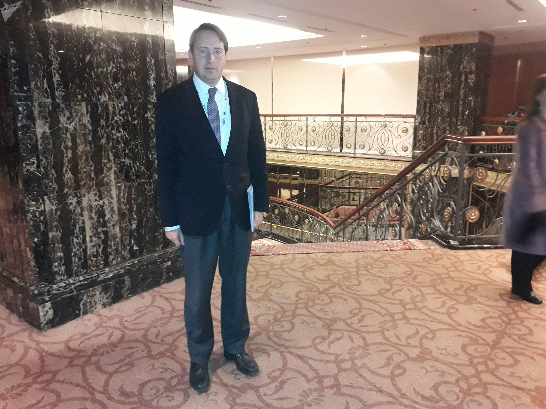 Alonso Martínez, consejero de la representación permanente de México ante la ONU en Ginebra