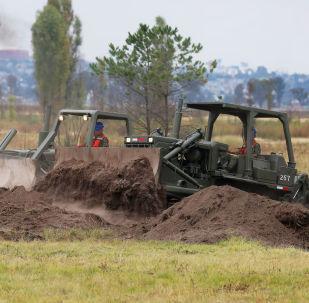 Obras para construir un aeropuerto internacional en la base militar de Santa Lucía