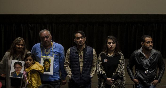 La familia de Fanny Sánchez Viesca en una conferencia al finalizar un documental donde se presenta su caso