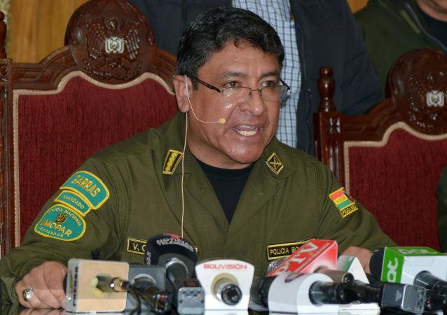 Yuri Calderón, comandante general de la Policía de Bolivia