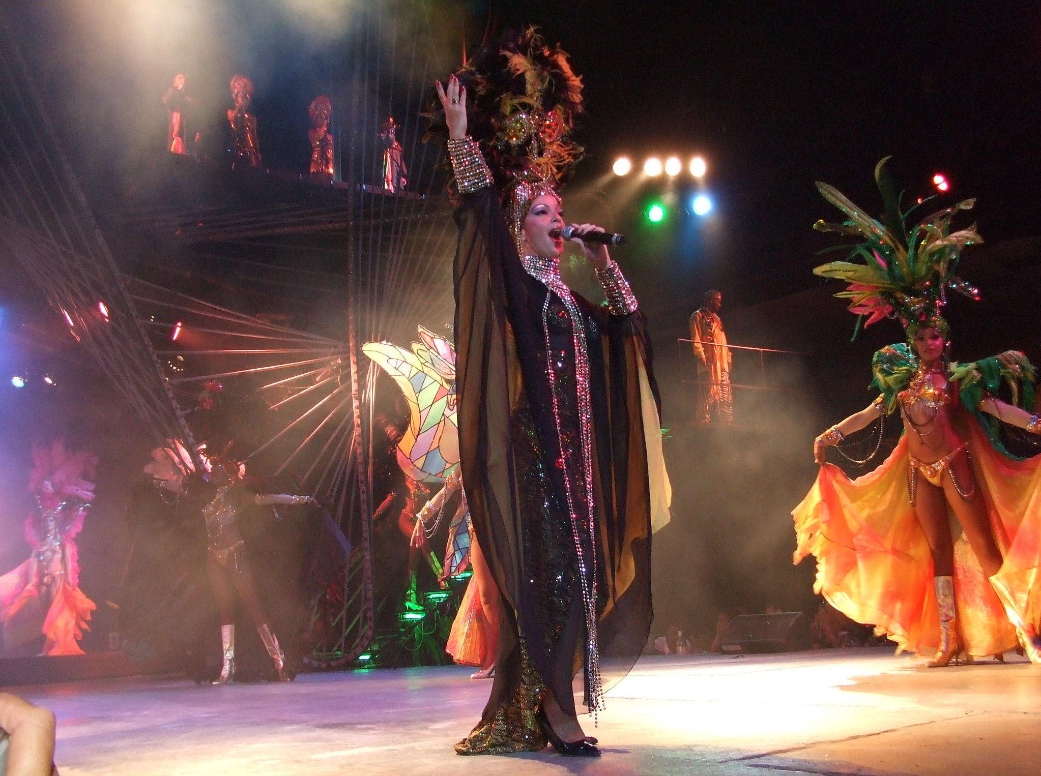 Show musical en Tropicana, La Habana