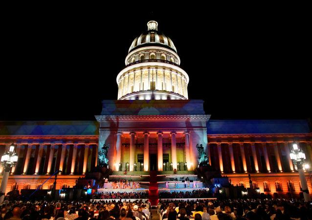 El capitolio de La Habana durante las festividades