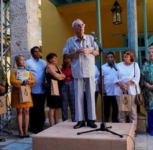 Eusebio Leal, director de la Oficina del Historiador de la ciudad de la Habana, Cuba