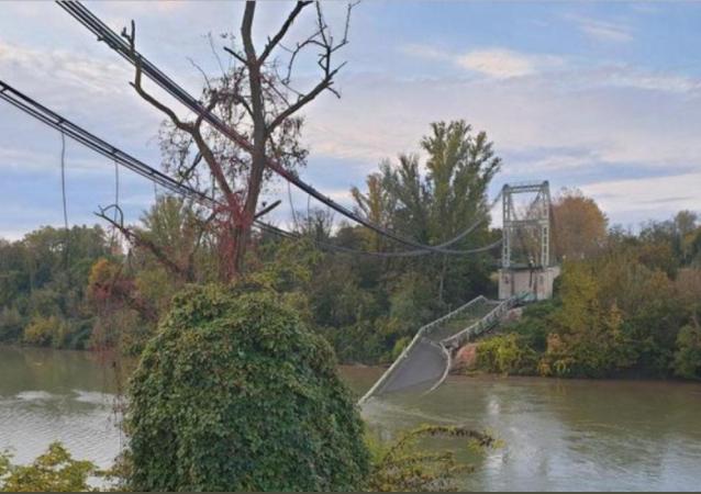 El puente colapsado en Francia
