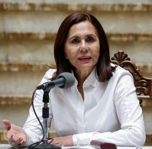 Karen Longaric, la canciller de facto de Bolivia