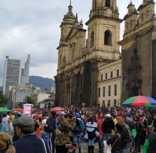 Marcha del 21 N en Bogotá