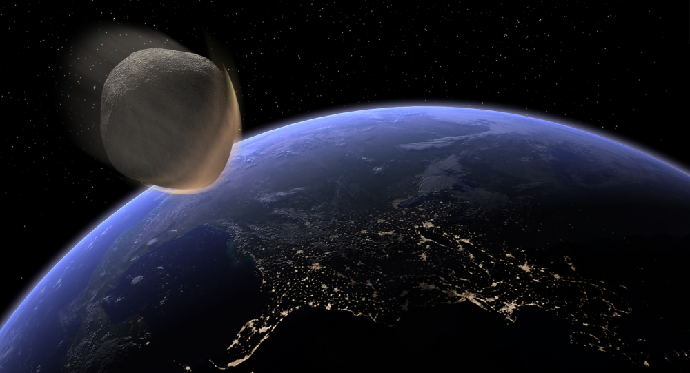 Un asteroide se acerca a laTierra (imagen referencial)