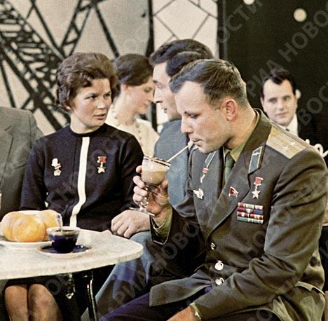 Юрий Гагарин в Центральной студии телевидения
