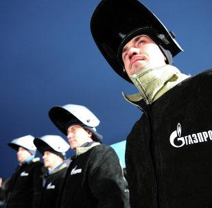 Trabajadores de la compañía Gazprom