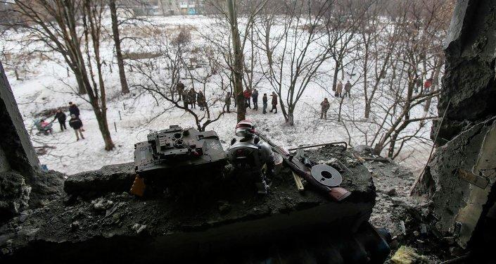 La situación en Donetsk (archivo)