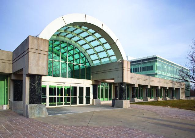 Вход в новый головной офис ЦРУ