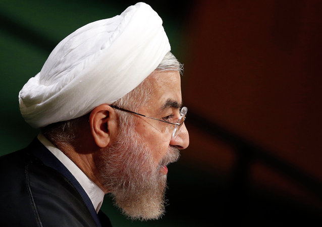 President Hassan Rouhani of Iran addresses the 69th session of the United Nations General Assembly at U.N. headquarters, Thursday, Sept. 25, 2014