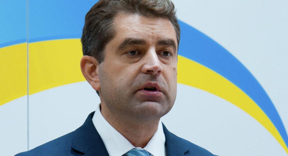 Evgueni Perebiynis, portavoz de la Cancillería de Ucrania