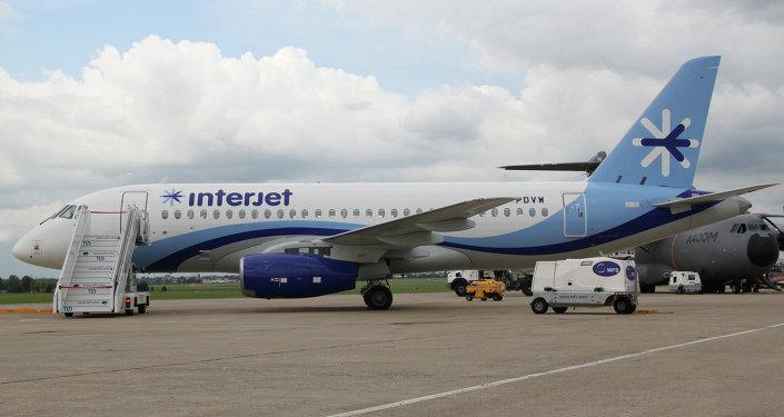 Sukhoi Superjet 100 de la aerolínea mexicana Interjet