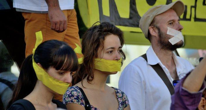 Protesta contra la ley mordaza (archivo)