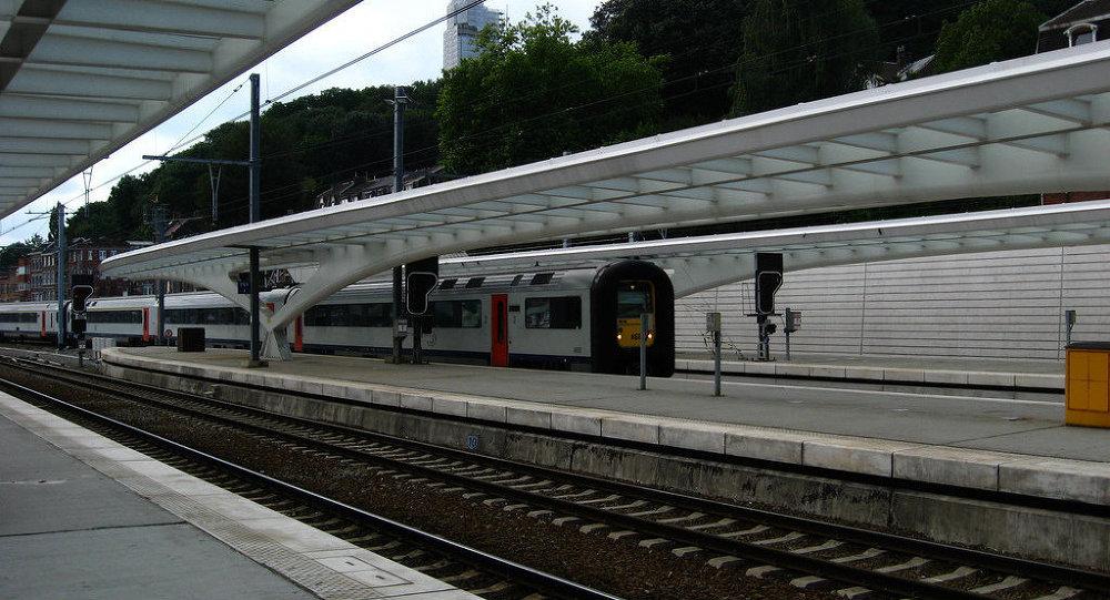 Железнодорожная станция в Бельгии