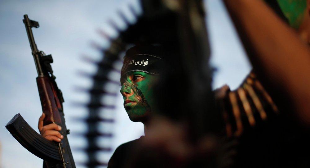 Miliciano de grupo palestino Hamás