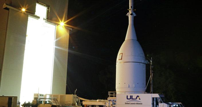 La nave espacial pilotada estadounidense Orion (archivo)
