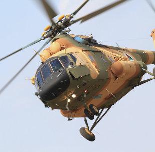 Un helicóptero Mi-17 en Afganistán (archivo)