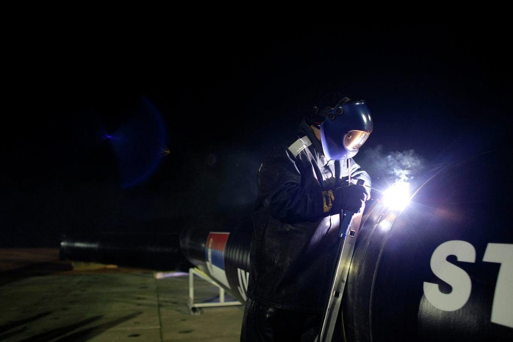 Строительство газопровода Южный поток в Сербии