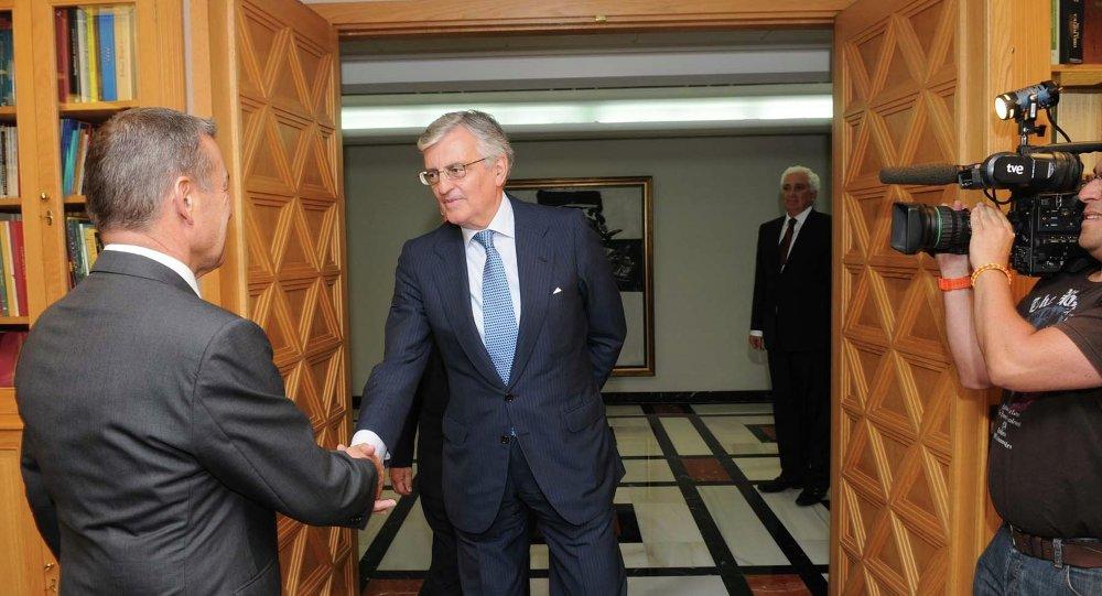 Paulino Rivero se reúne con el fiscal general del Estado, Eduardo Torres-Dulce