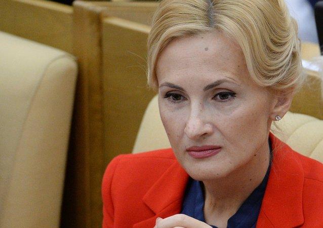 Irina Yarovaya, la jefa del Comité de Seguridad de la Duma rusa