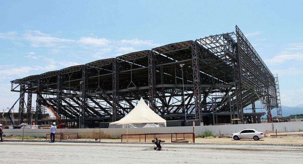 Exterior del pabellón Arena do Futuro