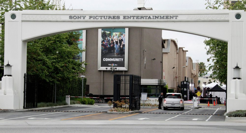 An entrance gate to Sony Pictures Entertainment at the Sony Pictures lot is pictured in Culver City, California in this April 14, 2013 file photo.