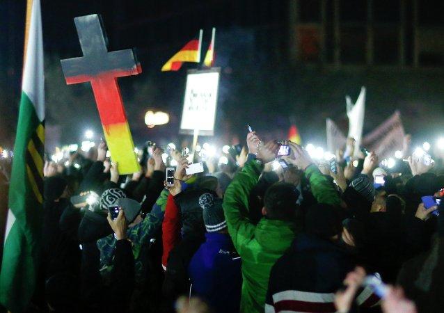 Manifestaciones de protesta en Dresde