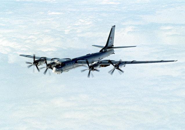 Bombardero estratégico ruso Tupolev Tu-95
