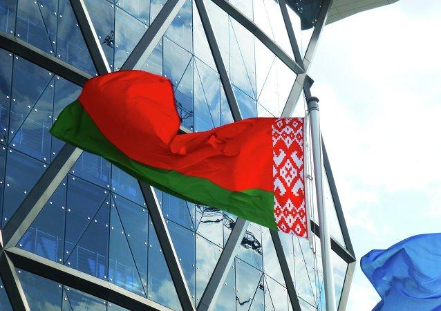 La bandera de Bielorrusia