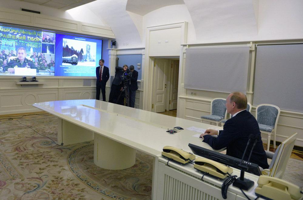 El presidente de Rusia, Vladímir Putin, presenció el acto de lanzamiento en régimen de videoconferencia