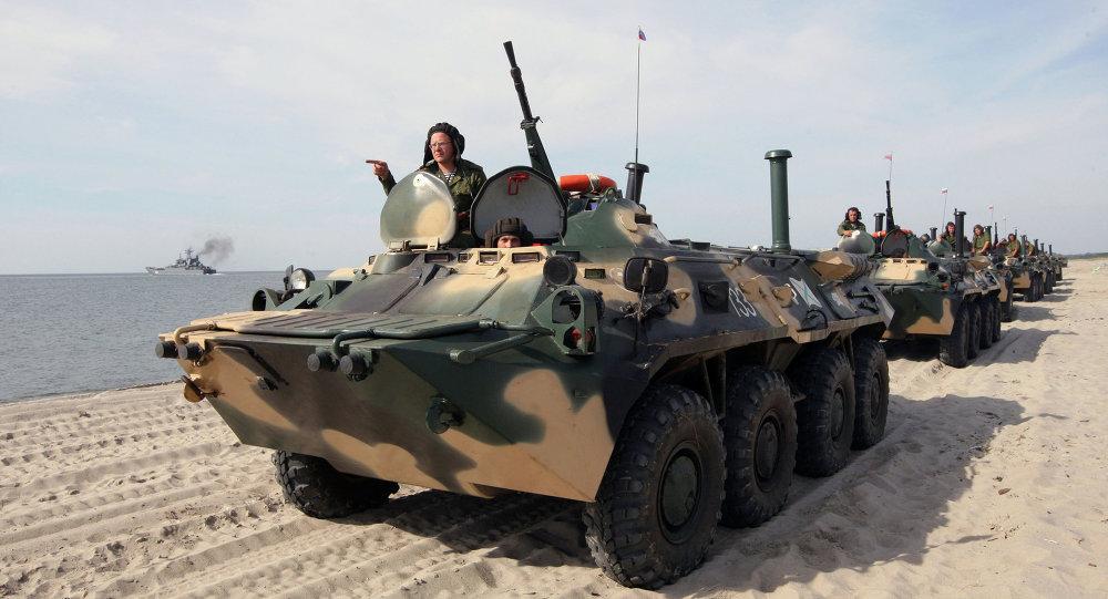 Учения по высадке морского десанта в Калининградской области