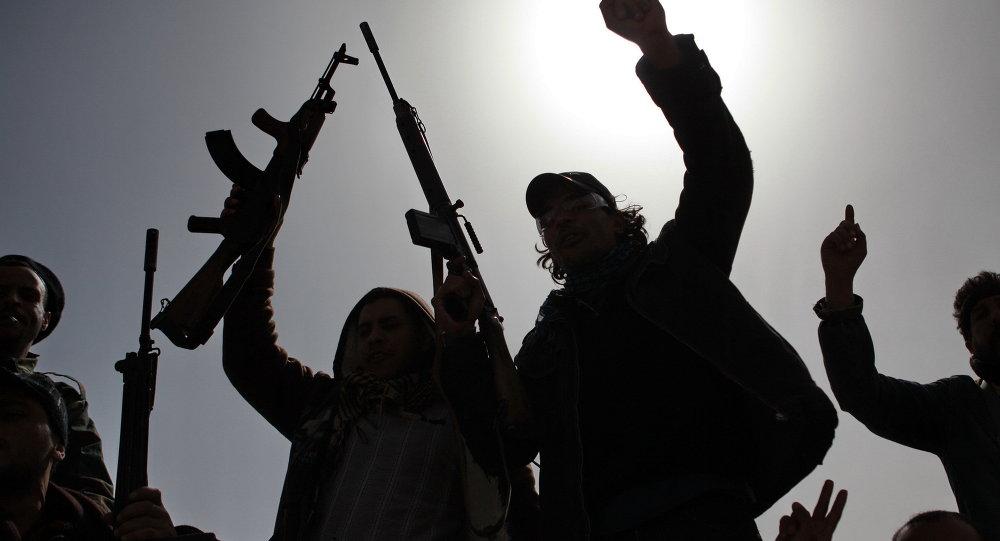 Opositores en Libia (Archivo)