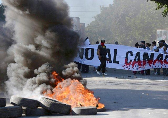 Protestas en Nicaragua contra el canal interoceánico