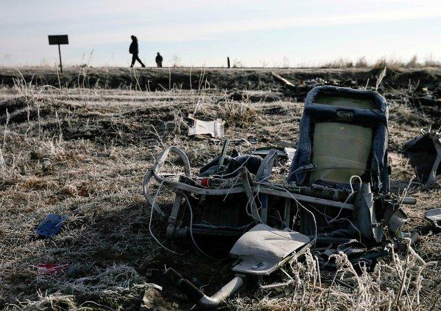 Lugar del siniestro del Boeing malasio en Donbás