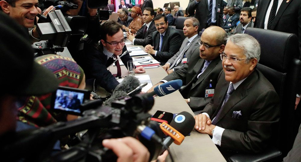 Saudi Arabia's Oil Minister Ali al-Naimi talks to journalists before a meeting of OPEC oil ministers at OPEC's headquarters in Vienna November 27, 2014.