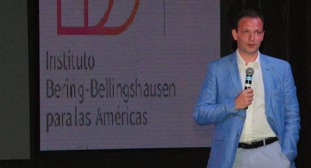Sergey Brilev, organizador de la proyección