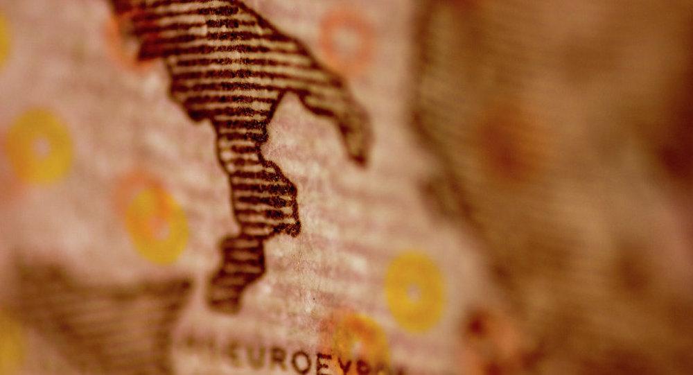 Евро с изображением Апеннинского полуострова