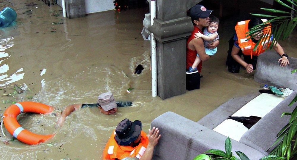 Inundacion en Filipinas