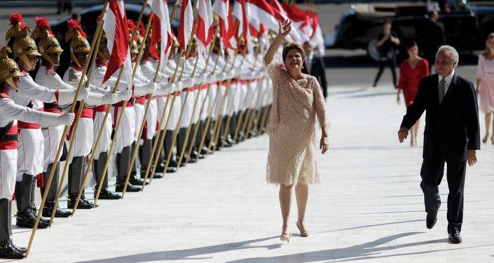Dilma Rousseff durante la ceremonia de toma de posesión realizada en la capital Brasília