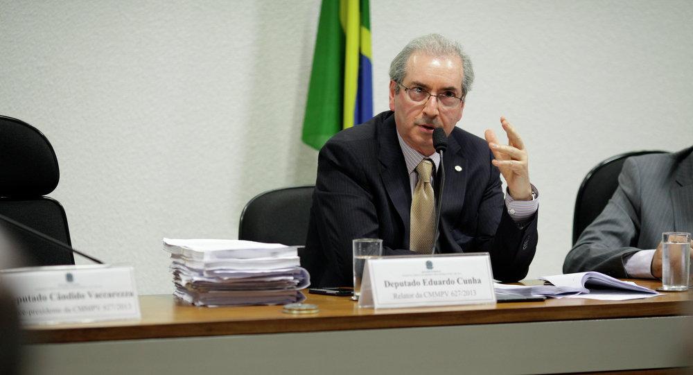 Eduardo Cunha, presidente del Congreso Nacional de Brasil y miembro el Partido del Movimiento Democrático de Brasil