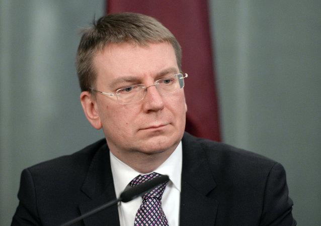 Edgar Rinkevics, ministro de Exteriores de Letonia