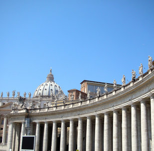 La Plaza de San Pedro en el Vaticano