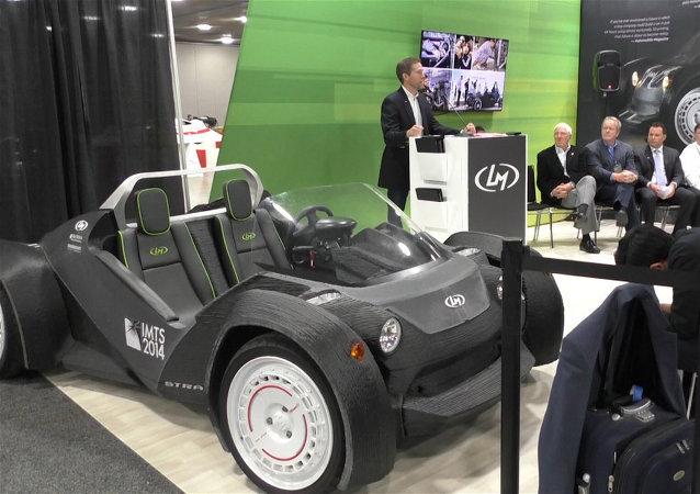 En el Salón del Automóvil de Detroit exhibieron un automóvil impreso en una impresora 3D